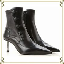 alexander mcqueen Leather Pin Heels Elegant Style Ankle & Booties Boots