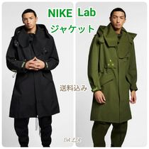 Nike Street Style Plain Long Trench Coats