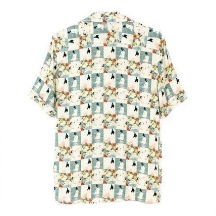 Tropical Patterns Silk Short Sleeves Shirts