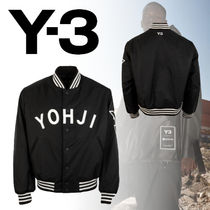 Y-3 Short Unisex Street Style Collaboration Varsity Jackets