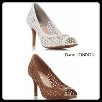 Dune LONDON Open Toe Leather Pin Heels Office Style