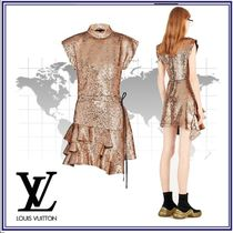 Louis Vuitton Short Nylon Blended Fabrics Short Sleeves Party Style