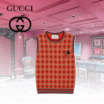 GUCCI Casual Style Wool Vest Cardigans