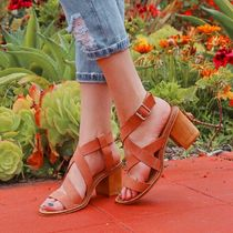 CHINESE LAUNDRY Open Toe Blended Fabrics Street Style Plain Sandals