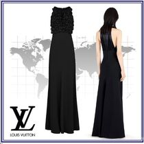 Louis Vuitton Blended Fabrics Sleeveless Long Party Style Dresses