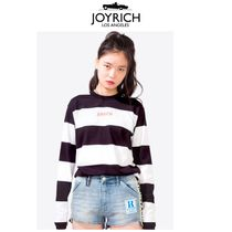 JOYRICH Stripes Unisex Street Style Long Sleeves