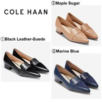 Cole Haan Casual Style Plain Leather Office Style Chunky Heels