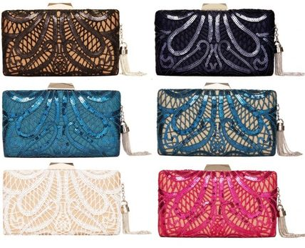 Flower Patterns Party Style Clutches