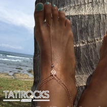 Chain Handmade Silver Elegant Style Anklets