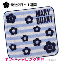 MARY QUANT Stripes Flower Patterns Cotton Handkerchief
