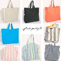 Free People Stripes Canvas A4 Plain Totes