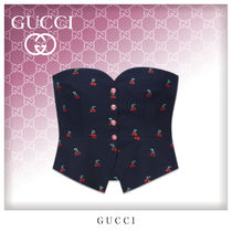 GUCCI Casual Style Cotton Bandeau & Off the Shoulder