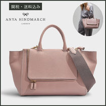 Anya Hindmarch A4 2WAY Plain Leather Office Style Totes