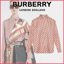 Burberry Silk Long Sleeves Elegant Style Shirts & Blouses