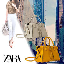 ZARA Studded 2WAY Plain Boston & Duffles
