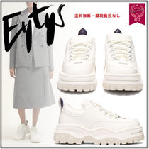 Eytys Platform Round Toe Lace-up Casual Style Unisex Suede