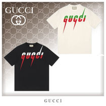 GUCCI Crew Neck Cotton Short Sleeves Crew Neck T-Shirts