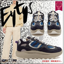 Eytys Unisex Blended Fabrics Street Style Plain Leather Sneakers
