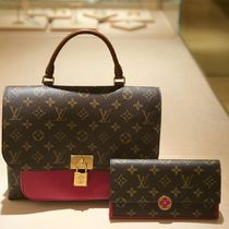 Louis Vuitton MONOGRAM Monogram Blended Fabrics 2WAY Bi-color Leather Elegant Style