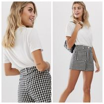 ASOS Gingham Casual Style Cotton Denim & Cotton Shorts