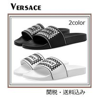 VERSACE Unisex Street Style Plain Shower Shoes Shower Sandals