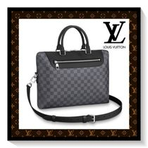 Louis Vuitton Other Check Patterns Canvas Blended Fabrics A4 2WAY