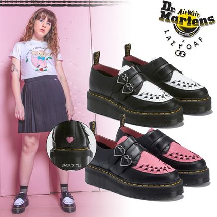 Heart Round Toe Rubber Sole Casual Style Street Style