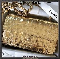 CHANEL TIMELESS CLASSICS Calfskin 3WAY Chain Plain Other Animal Patterns