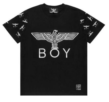 BOY LONDON Pullovers Skull Street Style V-Neck Other Animal Patterns