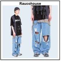 Raucohouse Unisex Cotton Oversized Jeans & Denim