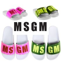 MSGM Casual Style Plain Shower Shoes Flat Sandals