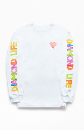 Crew Neck Street Style Long Sleeves Cotton
