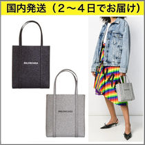 BALENCIAGA EVERYDAY TOTE Plain Leather Totes