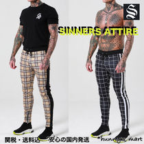 SINNERS ATTIRE Other Check Patterns Street Style Joggers & Sweatpants