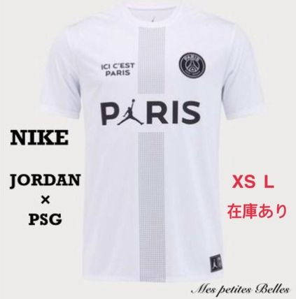 Nike More T-Shirts Street Style Collaboration Cotton Short Sleeves Oversized