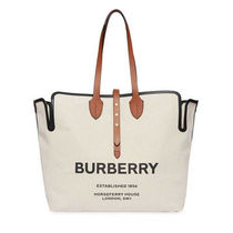 Burberry Canvas A4 Elegant Style Totes