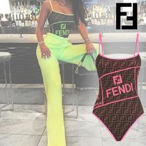 FENDI Blended Fabrics Bi-color Beachwear