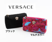 VERSACE Unisex Blended Fabrics Pouches & Cosmetic Bags