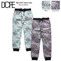DOPE couture Flower Patterns Unisex Sweat Street Style Pants