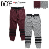 DOPE couture Stripes Unisex Sweat Street Style Bold Pants