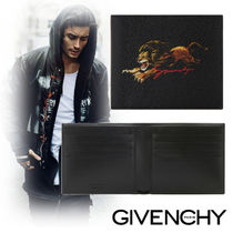 GIVENCHY Canvas Street Style Other Animal Patterns Folding Wallets