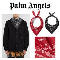 Palm Angels Paisley Unisex Street Style Cotton Accessories