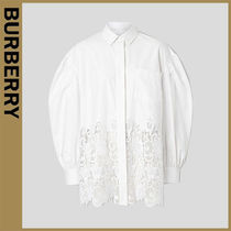 Burberry Long Sleeves Cotton Oversized Shirts & Blouses