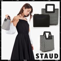 STAUD Gingham Casual Style Nylon Blended Fabrics Totes