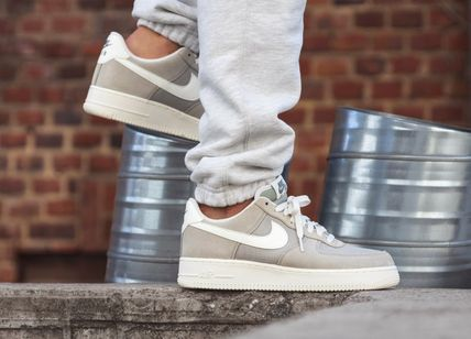 Nike AIR FORCE 1 2019 SS Suede Street Style Plain Sneakers (AQ8741 300)