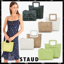 STAUD Casual Style Other Animal Patterns Leather Totes