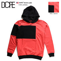 DOPE couture Pullovers Unisex Sweat Street Style Bi-color Long Sleeves