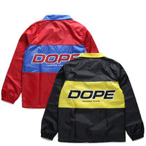 DOPE couture More Jackets Unisex Nylon Street Style Bi-color Windbreaker Logo Jackets 20