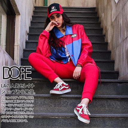 DOPE couture More Jackets Unisex Nylon Street Style Bi-color Windbreaker Logo Jackets