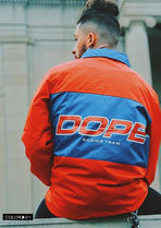 DOPE couture More Jackets Unisex Nylon Street Style Bi-color Windbreaker Logo Jackets 5